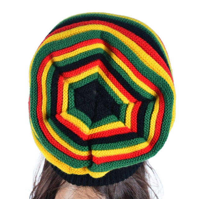 e73af591403 placeholder Winter Hip Hop Bob Jamaican Cap Rasta Reggae Hat Multi-colour  Striped Beanie Hats for
