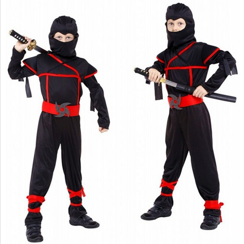 Boys Ninja Costumes Cosplay Festival Halloween Cosplay Kostume Arts Ninja Kostumer For Kids Fancy Party