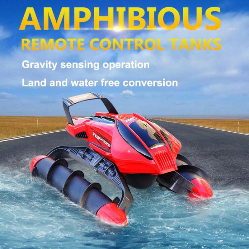 Flytec 989-393 2.4g Haute Vitesse RC Réservoir Amphibie Stunt Étanche Sable Lac Piscine Herbe Neige Lisse Route