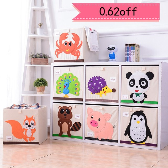 Kids Juguetes Cube Storage Box Folding Laundry Basket Clothes Bag Children Toy Bins Bookshelf