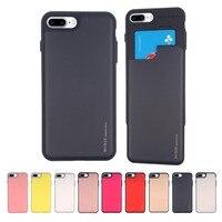 Originele Mercury Goospery Sky Slide Bumper Terug Slot Kaarthouder Hard Case Cover voor iPhone 6 6s 7 8 plus X XR XS 11 Pro MAX-in Passende hoesjes van Mobiele telefoons & telecommunicatie op