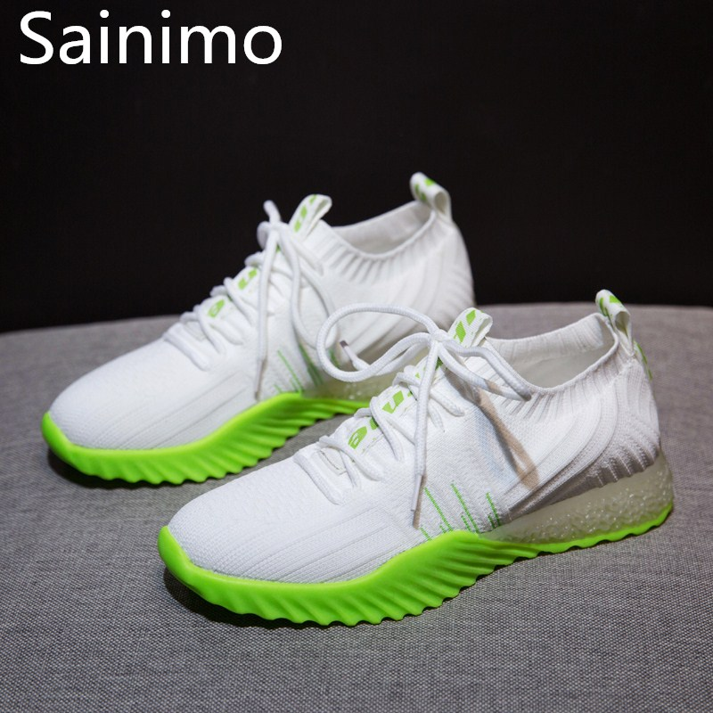 Spring Trendy Shoes Women Casual Comfortable Breathable Female Sneakers Thick Sole Ladies Jelly Footwear Slip-ons Zapatos Mujer