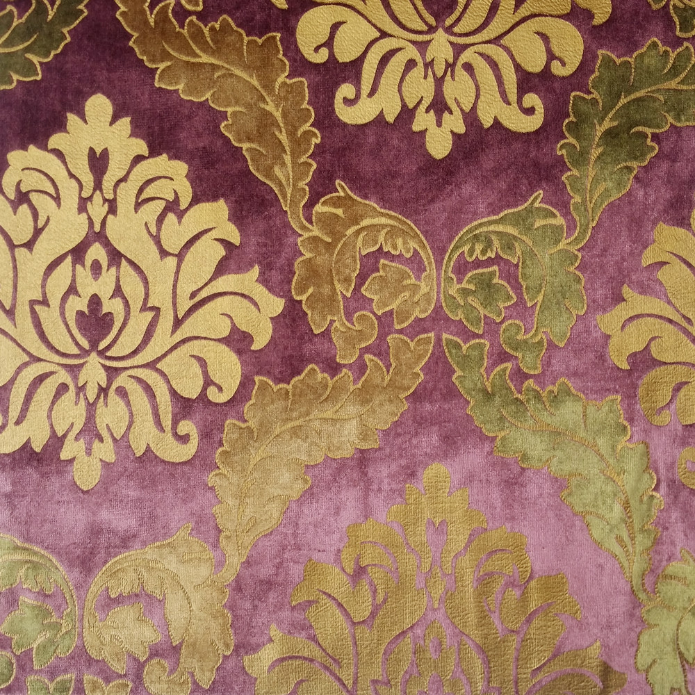 damask sofa bed how to reupholster a seat cushion aliexpress.com : buy luxurious foil gold velvet ...