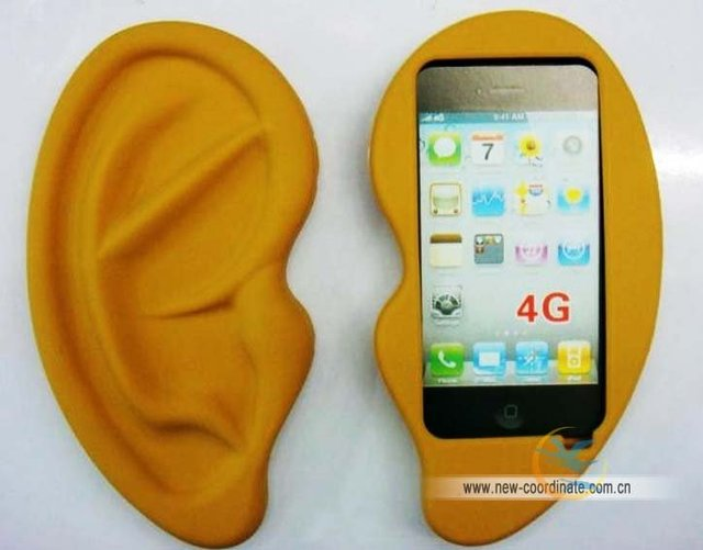New arrival !ear-style case for Iphone4 hard cover case fashion ear High quality and fashion Free shipping