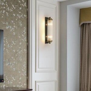 Image 3 - Cristal verre abat jour applique murale chevet pour chambre LED moderne luxe or noir lampes luminaires dintérieur salon éclairage à la maison