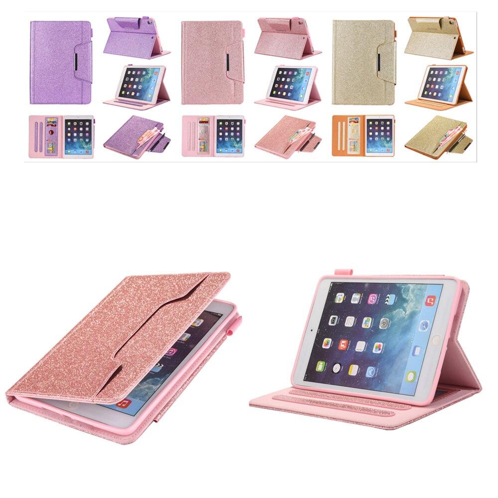 For Apple iPad Mini 1 2 3 4 7.9 inch Case Auto Sleep /Wake Up PU Leather TPU Soft Back Cover Luxury Gold For iPad Mini2 MIni4