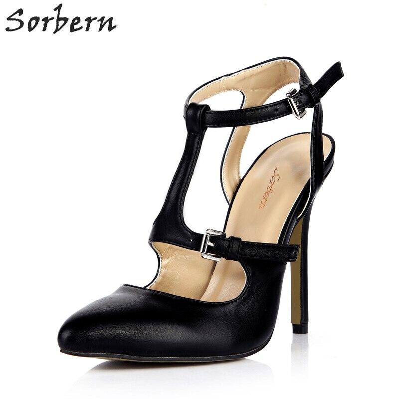 Sorbern Mature Slingbacks Pointed Toe Women Pump High Heels Stilettos Custom Turquoise Shoes -4295