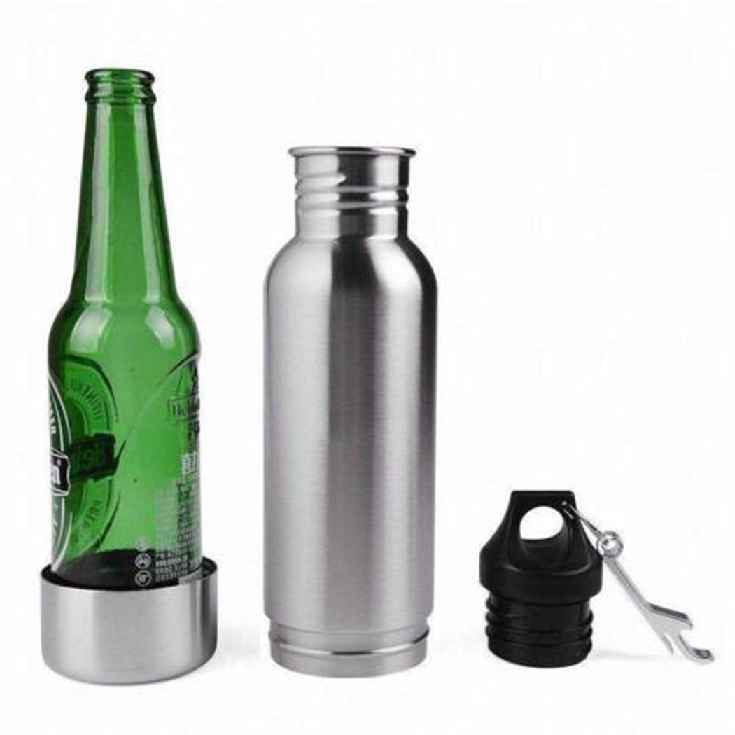 Stainless Steel Vacuum Flasks 12 OZ Thermos Cup Beer Coffee Tea Milk Travel Mug Thermo Bottle Gifts Thermo Cold Beer Keeper Cup