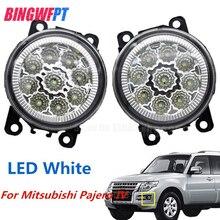 1 пара Высокое качество противотуманная светодио дный фара светодиодная лампа 33900-STK-A11 26154-EA500 для Mitsubishi Pajero IV V8_W V9_W закрытый внедорожник 2007-