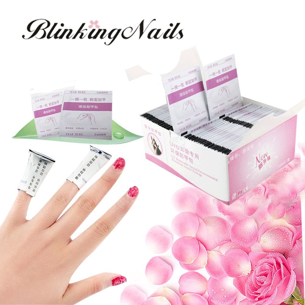 BlinkingNails 200pcs Soak Off Remover For Gel Nail Polish