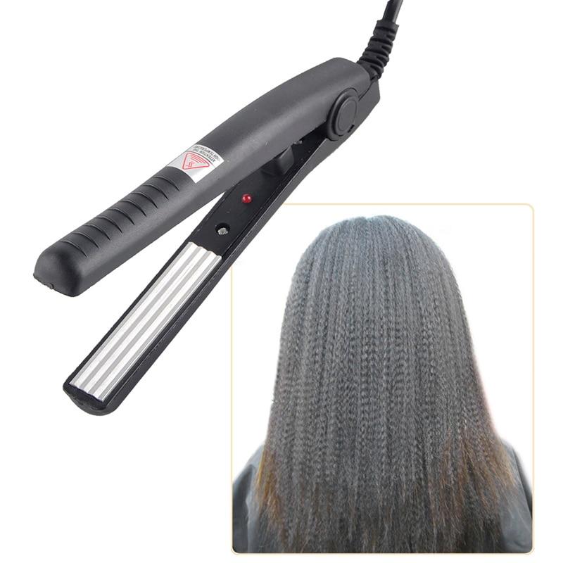 New Electric Hair Straightener straightening Corrugated Iron Hair Crimper Corn Plate Mini Ripple Corrugation Styling Tools