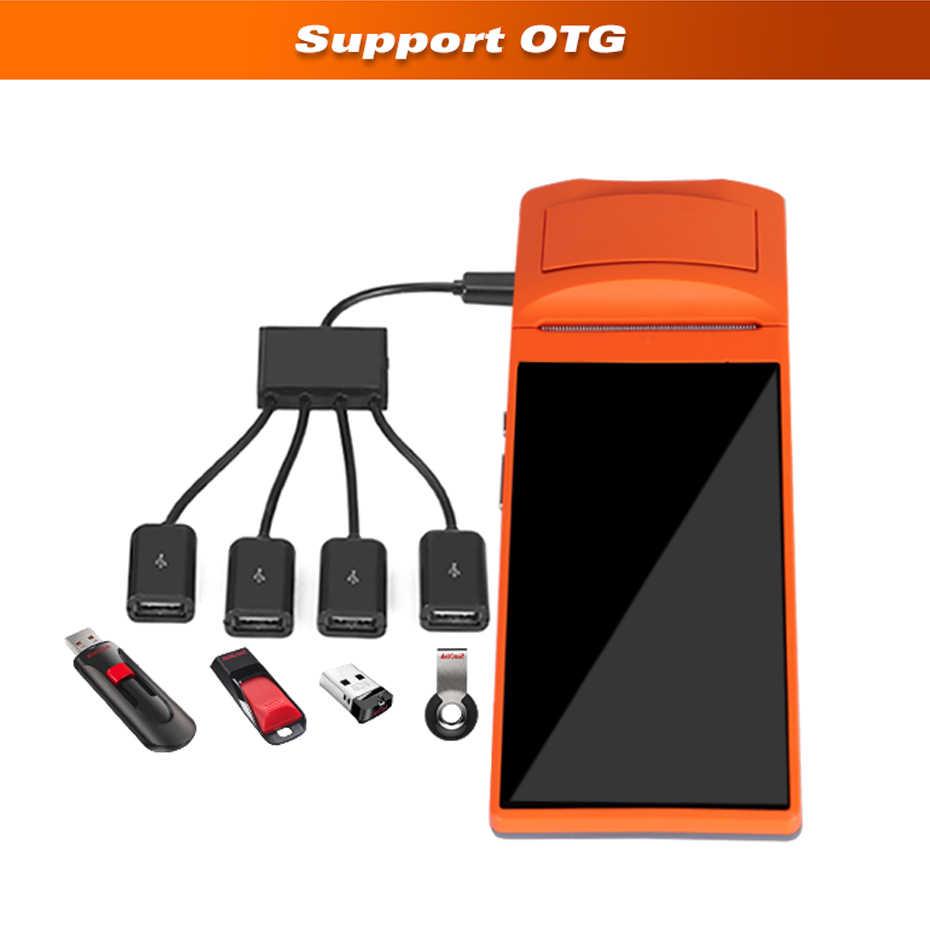 ISSYZONEPOS Android PDA Điện Thoại Di Động POS Nhà Ga Máy In Nhiệt Cầm Tay PDA Bluetooth Máy Quét Mã Vạch Máy In Nhiệt Sunmi V1S