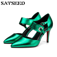 Fashion 2018 Autumn Genuine Leather Women Designer Shoes Women High Quality Super High Heeled Shoes Wedge