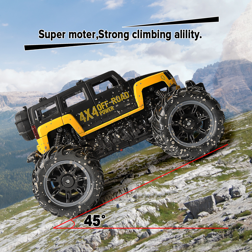 Image 3 - RC Car 2.4G Scale Rock Crawler Remote Control Car Supersonic Monster Truck Off Road Vehicle Buggy xmas gifts for kids-in RC Cars from Toys & Hobbies