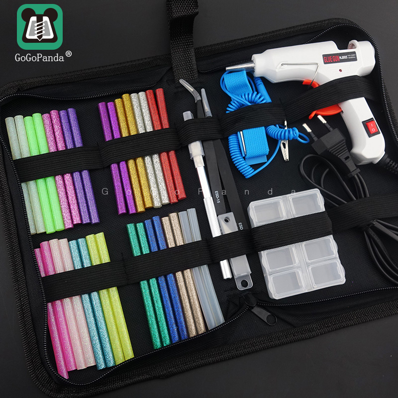 Free Shipping 6 IN 1 Glue Gun Set Electric Heat Hot Melt Crafts Repair Tool Professional DIY 20W With Sticks Children Gift