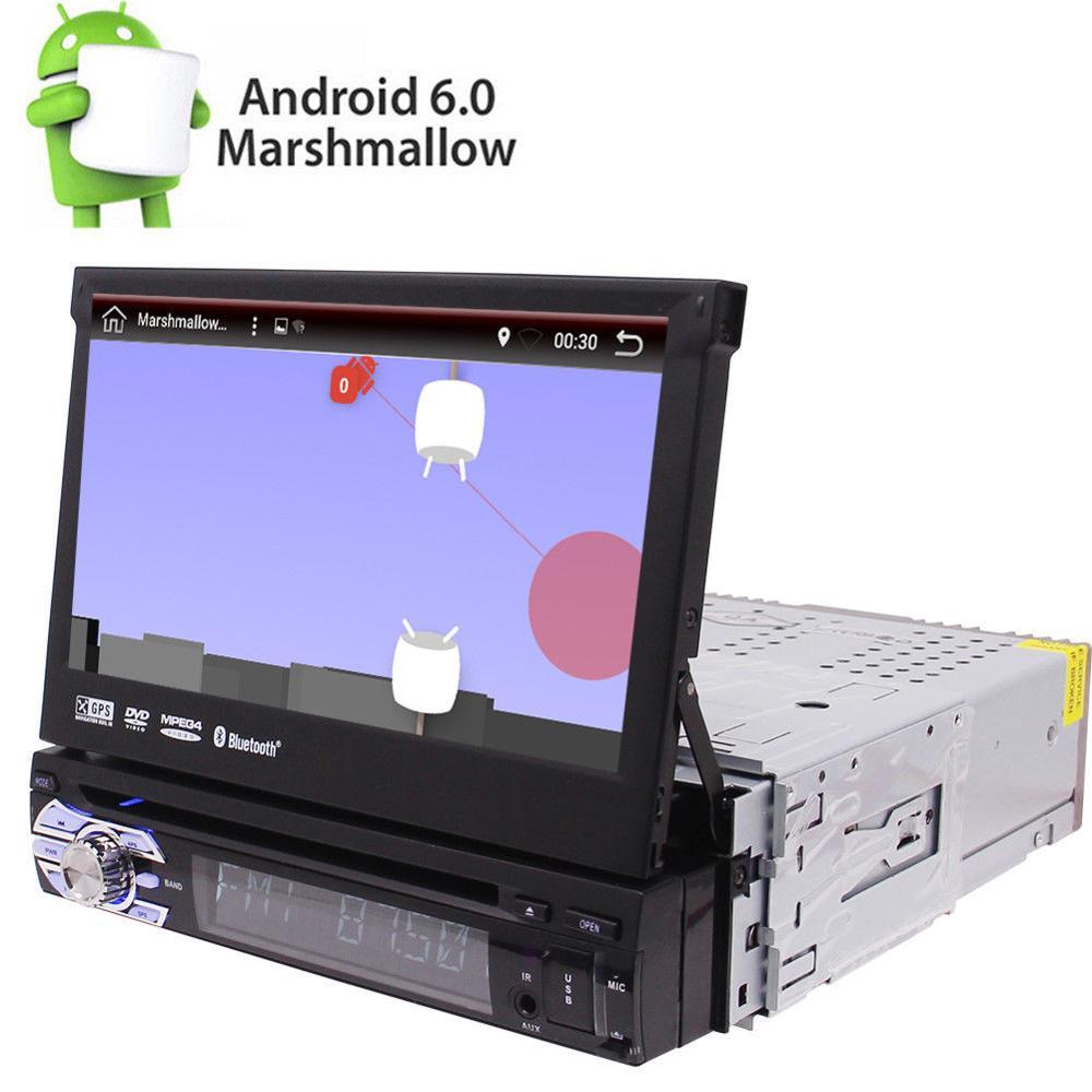 7 single din android 6 0 car dvd player radio gps nav obd mirror link 2gb