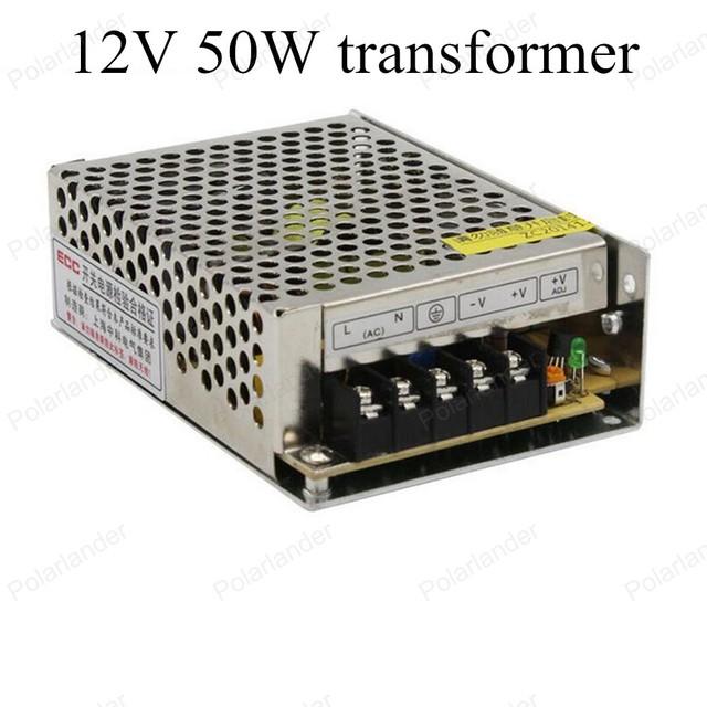 Alta Calidad LLEVÓ el Conductor fuente de Alimentación del Interruptor AC 110 V/220 V a DC 12 V 50 W Voltaje transformador para la Tira Llevada Cartelera Pantalla
