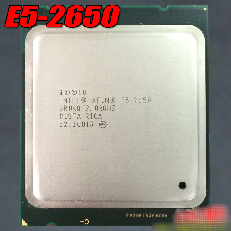 E5-2650 C2 cpu 2.0GHZ official version 8 nuclear SROKQ e5 2670 original e5 2670 cpu 20m cache 2 60 ghz 8 00 gt s intelqpi ga 2011 srokx c2 suitable x79 motherboard
