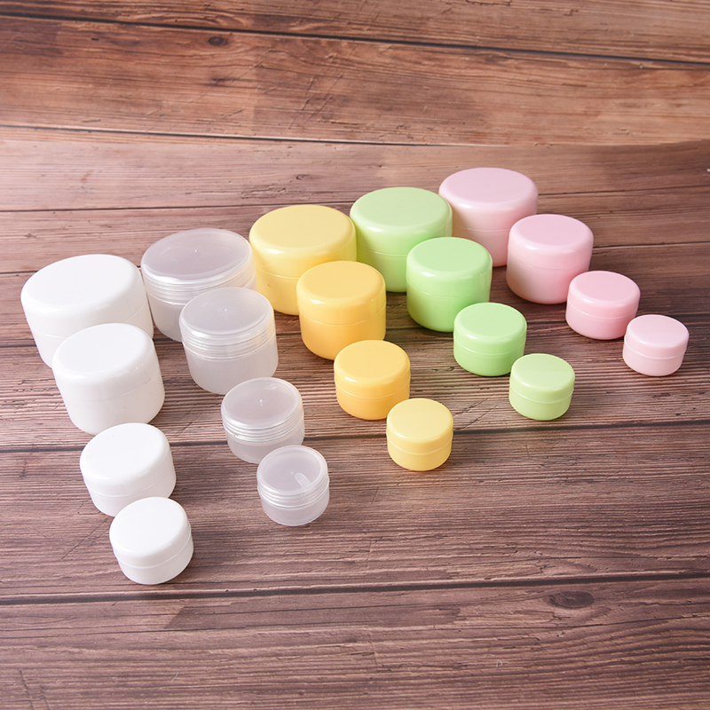 10g 20g 50g 100g Plastic Portable Cosmetic Travel Empty Jars Pots Makeup Cream Liquid Moisturizer Lip Balm Container Pocket