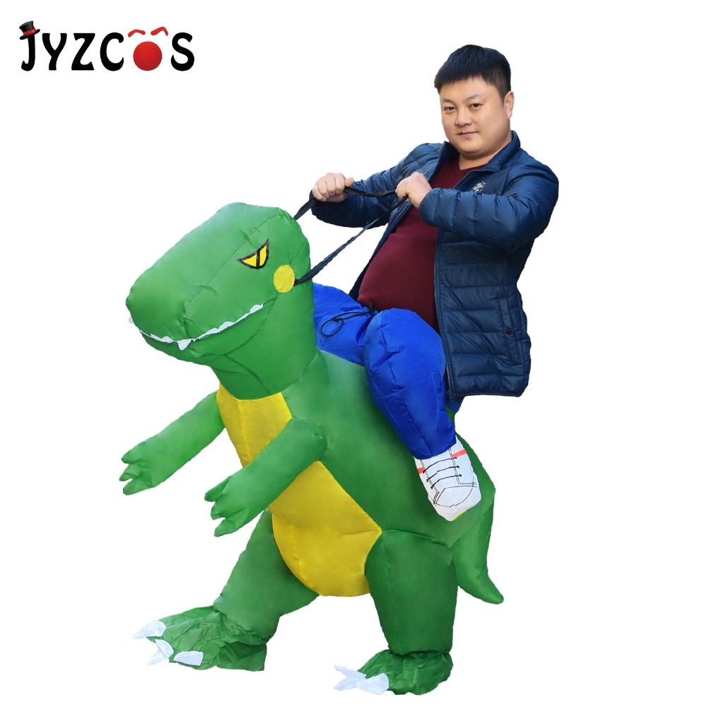 JYZCOS Adult Inflatable Dinosaur t rex Costume Blow Up Dinosaur Costume For Anime disfraces adultos costume Halloween Costumes
