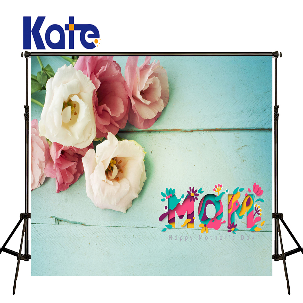 Kate Happy Mothers Day Photography Backdrops Flower Wood Background Spring Photography Backdrops Baby Background our kate