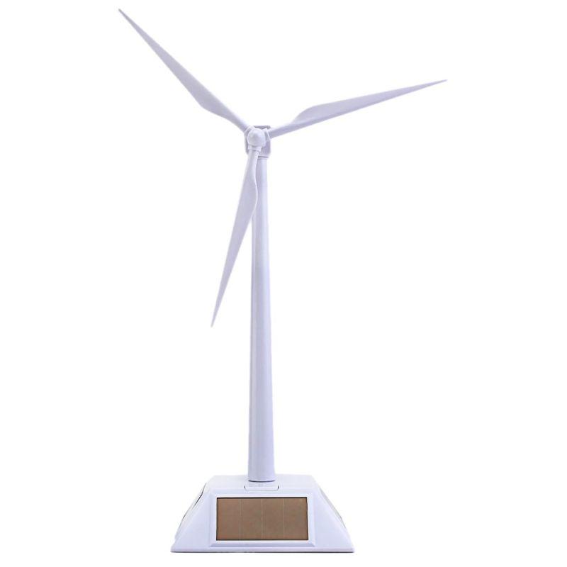 2 dans 1 Solaire Vent Turbine Générateur Modèle et Stand D'exposition Moulin À Vent Assemblée Éducation Kit De Bureau Decoratio