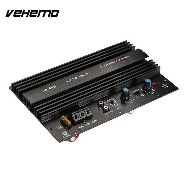Special Price Vehemo Automobile Bass Audio Amplifier Power Amplifier 4Ohm 1000W Powerful Car Amplifier 12V Car Electronics Universal