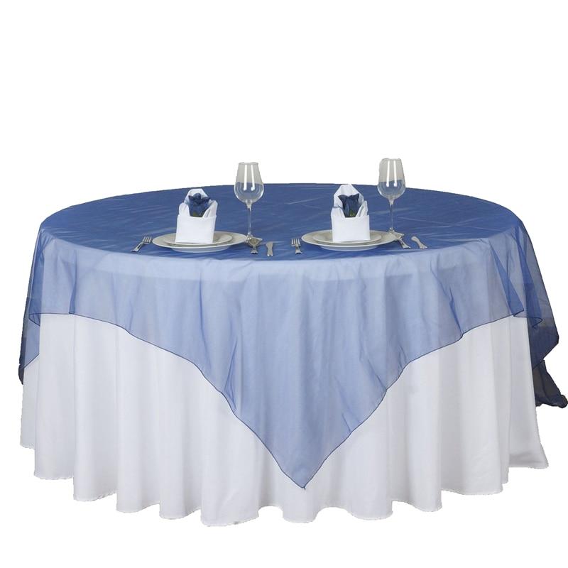Hot Sale 25 Colors Organza Tablecloth 180cmx180cm (72