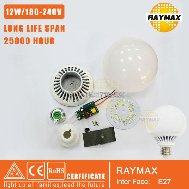 1piece Raymax Diy Led Bulb 12w High Power Accessory Lamp Parts