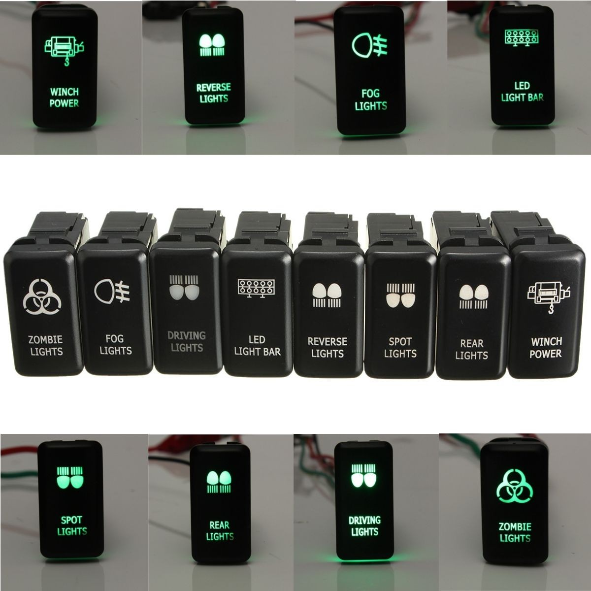Boat Car Truck Carling Rocker Switches Cover Cap Laser Etched ...