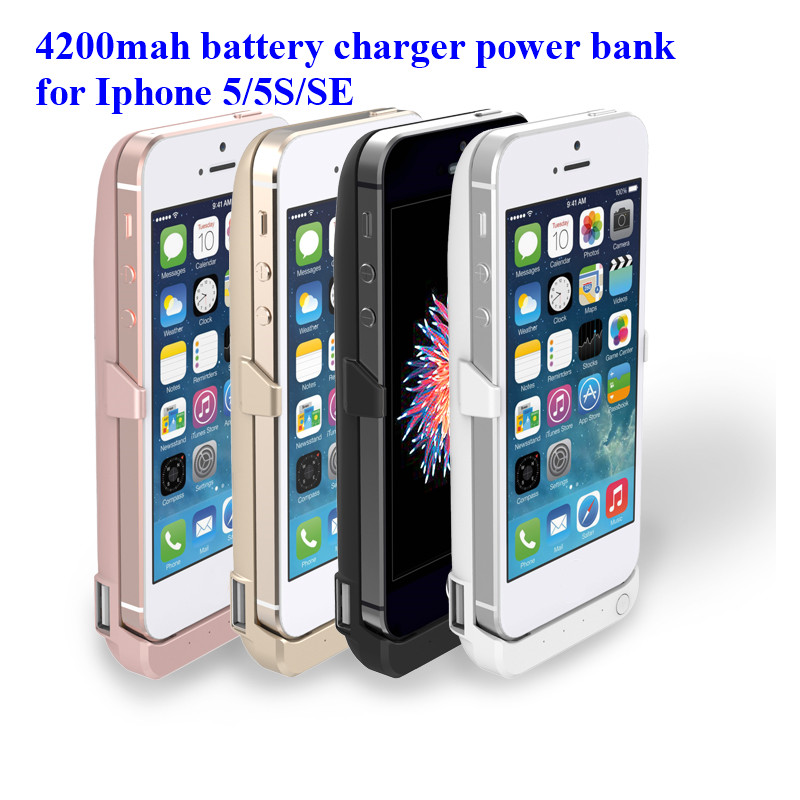 Free shipping for iphone5/SE/5S Battery Case Slim Power Case 4200mAh Portable Wireless backup Charger for iphone
