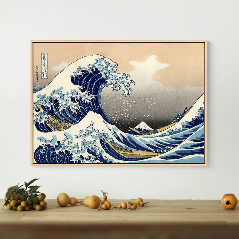 Contemporary Japanese Style Poster Canvas Painting Traditional Japanese Paintings Wave Kanagawa Wall Art For Living Room In 2019 - Elegant japanese painting Model