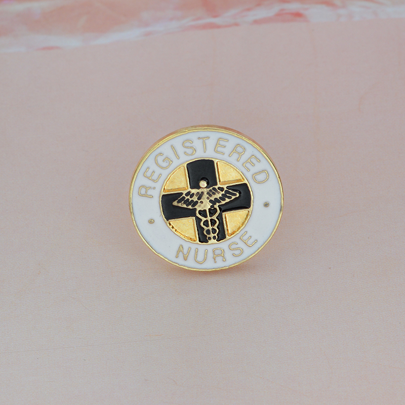 REGISTERED-NURSE-Brooch-Medical-White-Enamel-Pin-Buckle-Jacket-Bag-Pin-Badge-for-Nurse-Medical-student