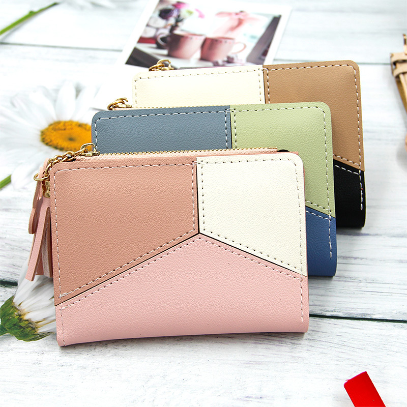 Ladies Zipper Wallet Korean Version Coloured Tassel Large Capacity Change Wallet Women Wallet Female Purse Money Clip Wallet