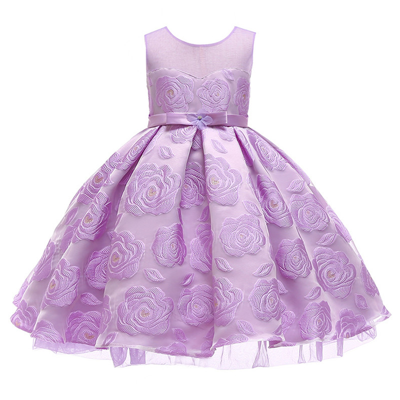 Fashion Ball Gown   Dress   For   Girls     Dresses   Kids Clothes Wedding   Flower     Girl     Dress   Birthday Party Costumes Children Clothing 2-10Y