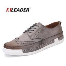 Aleader 2016 Nueva Verano Hombres de La Manera Oxfords de Los Hombres Desgaste Diario Zapatos Casuales Zapatos Para Caminar Al Aire Libre Calzado Confort de Conducción Sapatilha