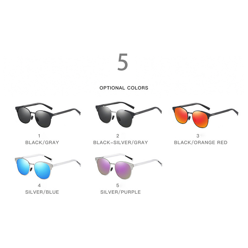 2019 Fashion Style Round Sunglasses Men Polarized Cat Eye Women Sun Glasses For Outdoor Driving Anti Glare UV400 Lens Purple Red in Women 39 s Sunglasses from Apparel Accessories