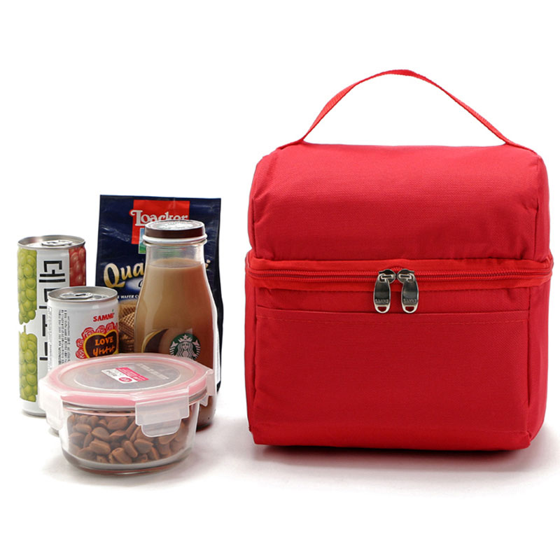 5L Lunch Bags Portable Thermal Bag Family Cooler Lunch box Lady Handbag Kids Food Drink Bag Insulation Package 2 layers family cooler bags thermal iced drink lunch box picnic food storage shoulder handbag pouch accessories supplies product