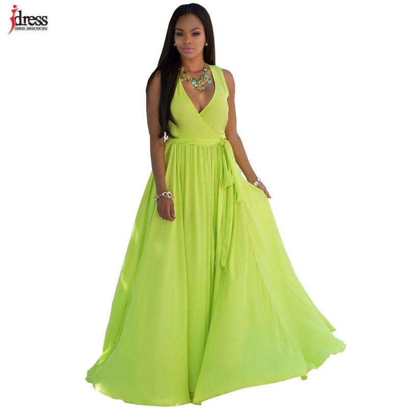 IDress Grün Weiß Vestido Longo Online Shopping Indien Kleid Frauen ...