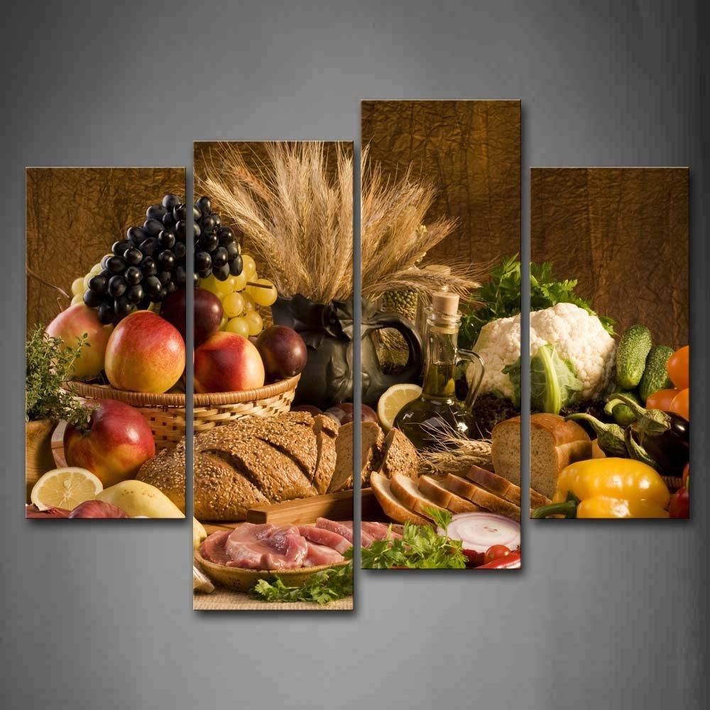 Aliexpress Com Buy Kitchen Decor Food Quote Canvas: Aliexpress.com : Buy Framed 4Pcs/Set Delicious Food Series