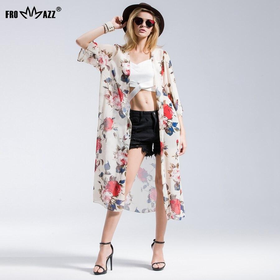 FROMMAZZ 2018 Summer New Women Ladies Causal Sweet Foral Chiffon Long Blouse Blusas Femininas Half Sleeve Shirts Tops FS16036