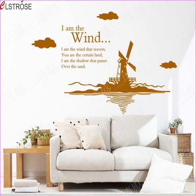 Sale Home Decor: CLSTROSE Sale Holland Windmill Wall Stickers Tv Background