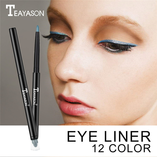 Teayason Double-Headed Waterproof Liquid Eyeliner Pen Eye's Makeup Cosmetic Tool Long-Lasting Eye Liner Pencil for Eyeshadow 5