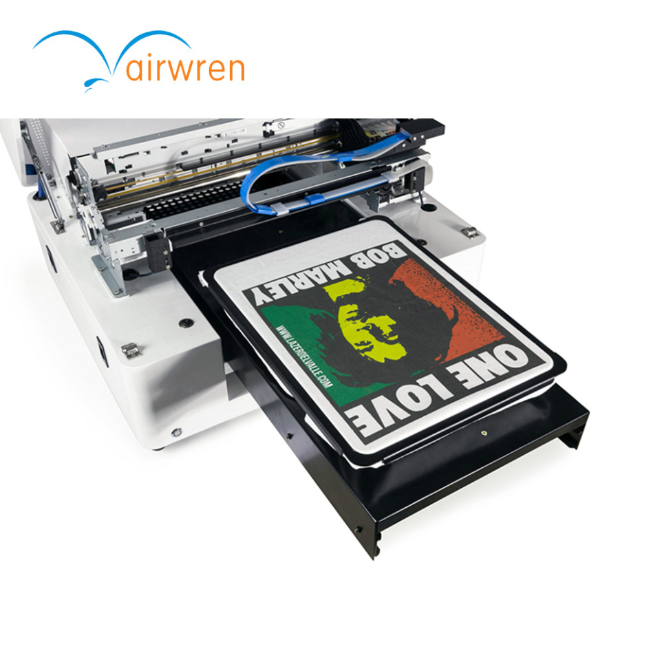 Automatic  T Shirt Printing Machine A3 Size Flatbed DTG  Printer Dark Color Jeans Printer With Textile Ink