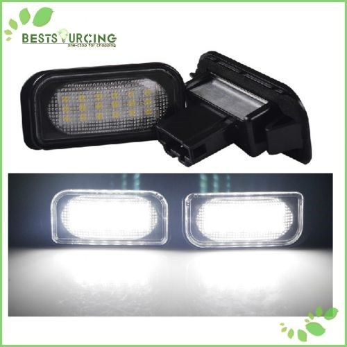 Free Shipping 5 pairs/lot Car Auto 18 SMD White LED License Plate Light Lamp for Benz W203 4D Sedan C CLASS W203 2001-2007 AMG motorcycle tail tidy fender eliminator registration license plate holder bracket led light for ducati panigale 899 free shipping