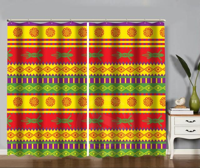 Lizard Mexican Pattern Living Room Curtains Bedroom Window Curtain Blackout  One Piece And Two Pieces MORE