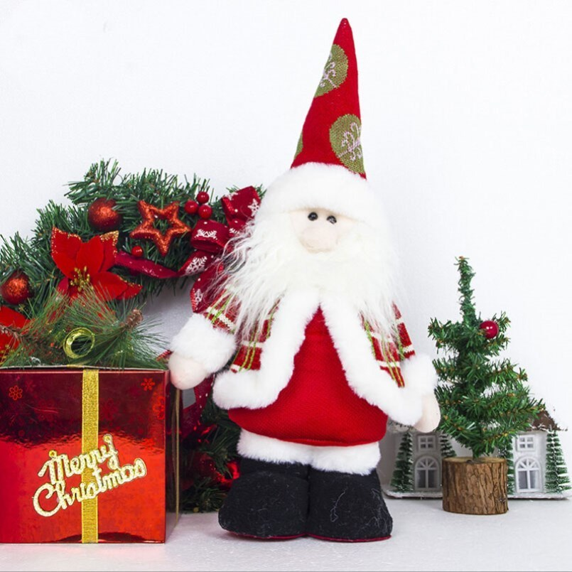 new christmas ornaments christmas high end toy christmas decoration telescopic doll santa claus. Black Bedroom Furniture Sets. Home Design Ideas