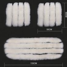 High Quality Sheepskin Luxury Fur Long Wool White Car Seat Covers Cushion Winter 3Pcs Set