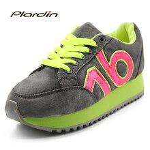 Plardin Новый Натуральная Кожа Повседневная Обувь Женщина Баланс Прогулки Кожаные Мокасины Оксфорд Обувь Для Женщин Летние балерина обувь