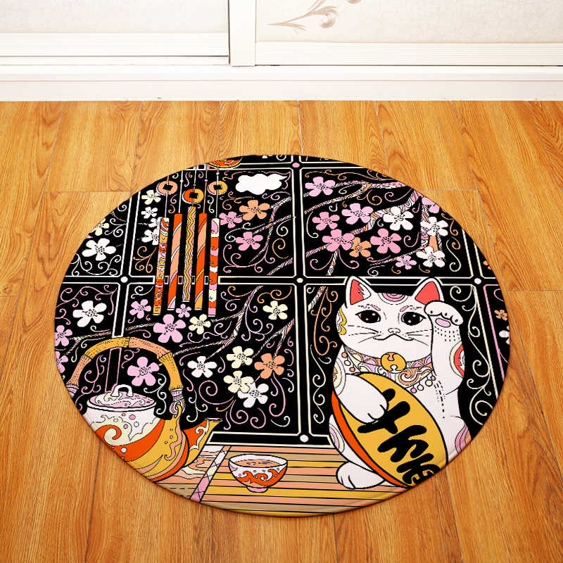 Высококачественные Лаки коврики для кошек круглый коврик в гостиную Мультяшные ковры дверной коврик для спальни fornazetti ковер